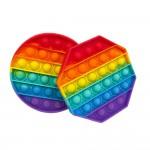 Wholesale rainbow Octagon Push Pop Fidget Toy Pack Ages Seen TikTok It s Like Bu