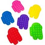 Wholesale among Us Crewmate Push Pop Fidget Toy Assorted Pack Ages Seen TikTok I