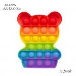 Wholesale rainbow Teddy Bear Push Pop Fidget Toy Pack Ages Seen TikTok It s Like