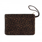 Wholesale oversized Cheetah Print Wristlet Pouch Zipper Closure T W