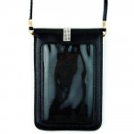 Wholesale faux leather cross body bag inside pocket snap closure clear back pock