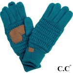 Wholesale c C G Solid ribbed glove smart tips Acrylic One fits most