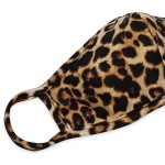 Wholesale reusable Cheetah Print T Shirt Cloth Mask Seam Machine Wash Cold Mild
