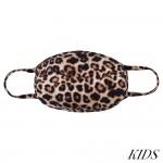 Wholesale kIDS Reusable Cheetah Print T Shirt Cloth Mask Machine Wash Cold Mild
