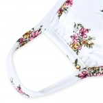 Wholesale adults Reusable Floral Print T Shirt Cloth Mask Machine Wash Cold Mild