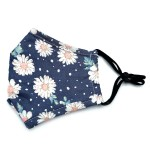 Wholesale do everything Love Brand Adjustable Daisy Print Fashion Mask Filter In