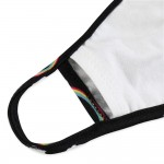 Wholesale kIDS Reusable Rainbow Print T Shirt Cloth Mask Seam Filter Insert Mach