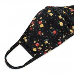 Wholesale adults Reusable Floral Print T Shirt Cloth Mask Seam Filter Insert Mac