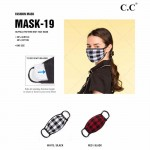 Wholesale c C MASK Ribbed Knit Fall Winter Mask Filter Insert Non Medical Washab