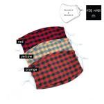 Wholesale do everything Love Brand KIDS Adjustable Buffalo Check Fashion Mask No