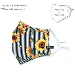 Wholesale do everything Love Brand Adjustable Striped Sunflower Print Fashion Ma