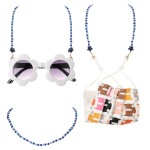 Wholesale kids Beaded Star Mask Lanyard Secures Mask L