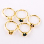 Wholesale adjustable gold star druzy ring Adjustable open band Fits up ring