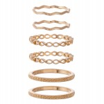 Wholesale texturized Band Knuckle Ring Set rings per set Fits up ring